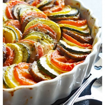 Remy's Ratatouille featuring DOROT Garlic & Herb Cubes