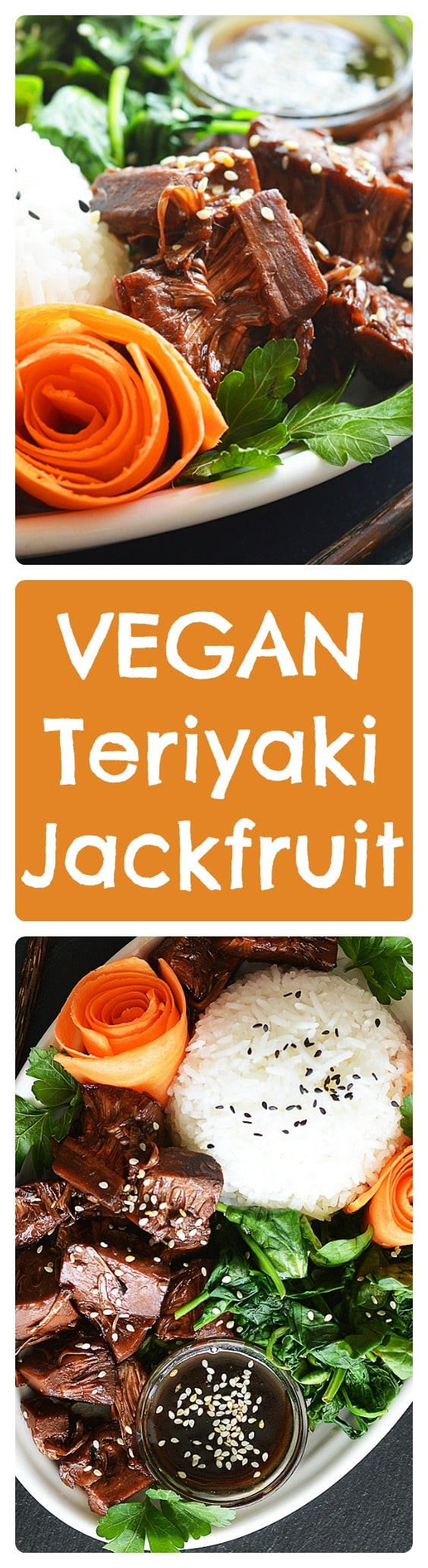 Vegan Teriyaki Jackfruit Bowl