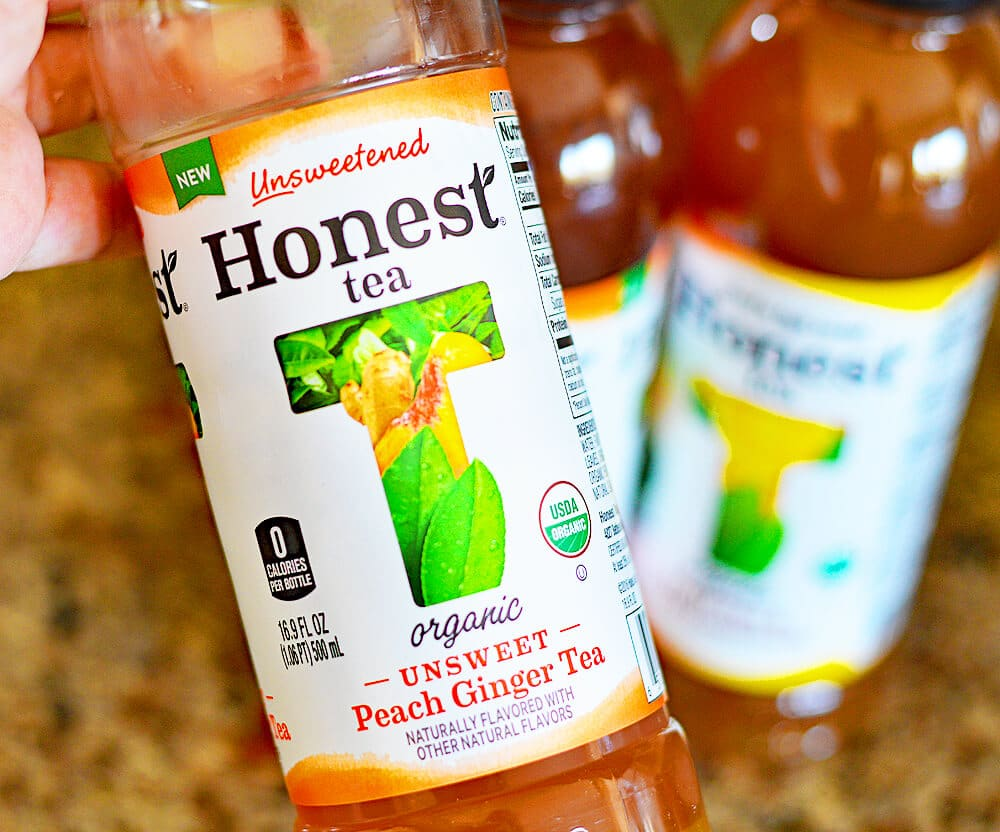 Photo of Peach Ginger Honest Tea Bottle Vegetable Spring Rolls with Peach Ginger Dipping Sauce