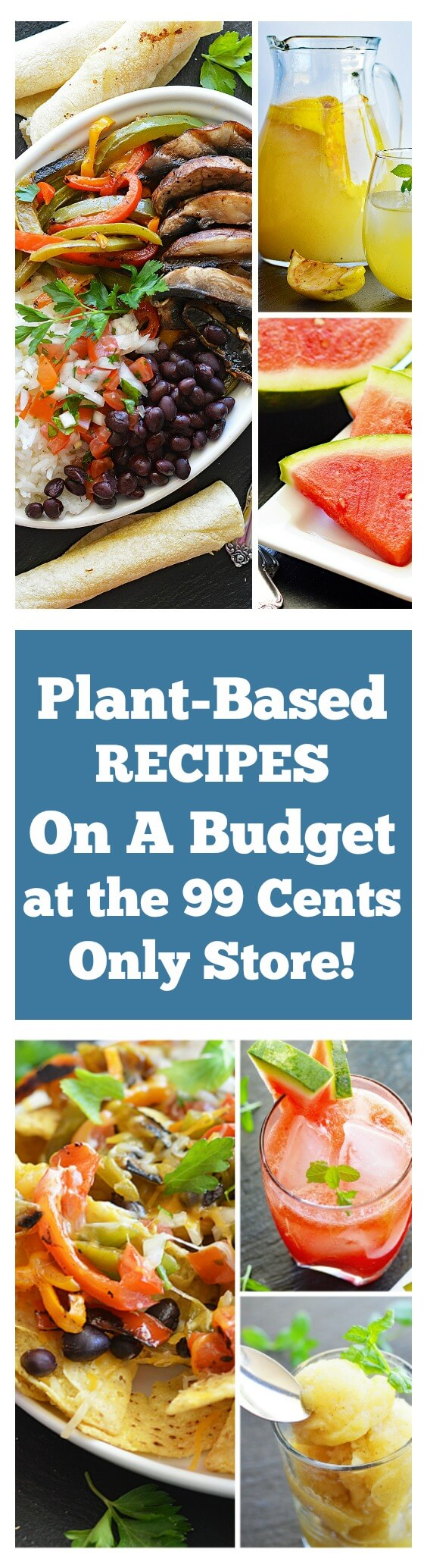 LONG PIN Plant Based Recipes On A Budget With The 99!