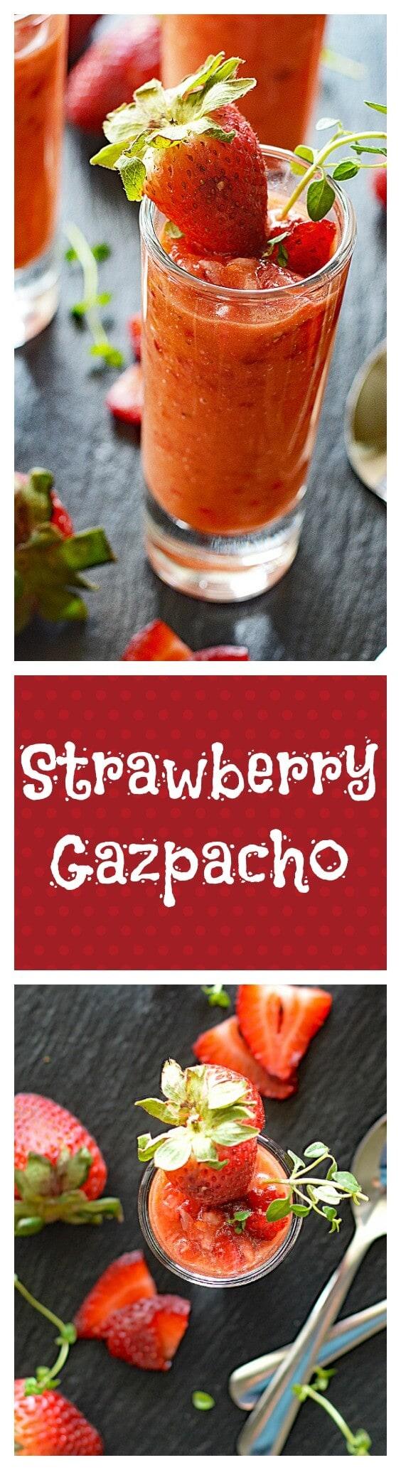 Vegan Tomato Strawberry Gazpacho
