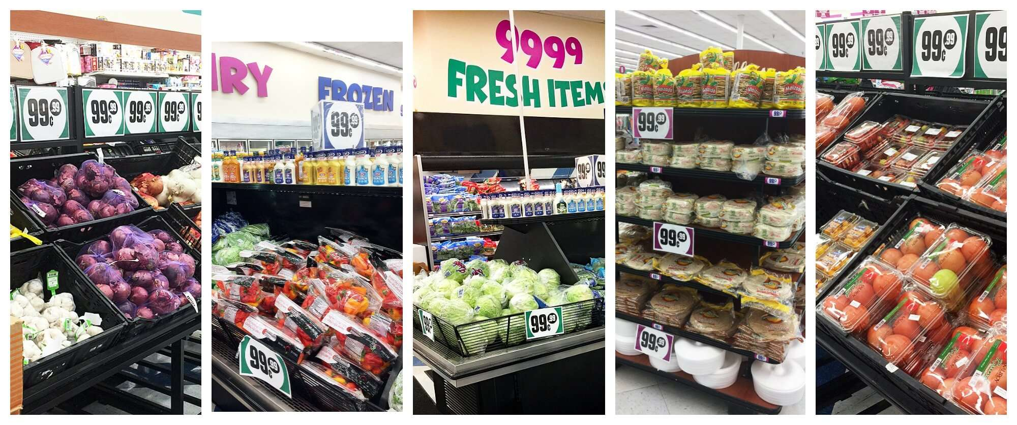 Photos of the 99 cents only store Plant Based Recipes On A Budget With The 99!