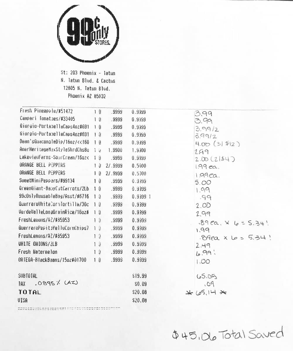 Receipt Photo Plant Based Recipes On A Budget With The 99!