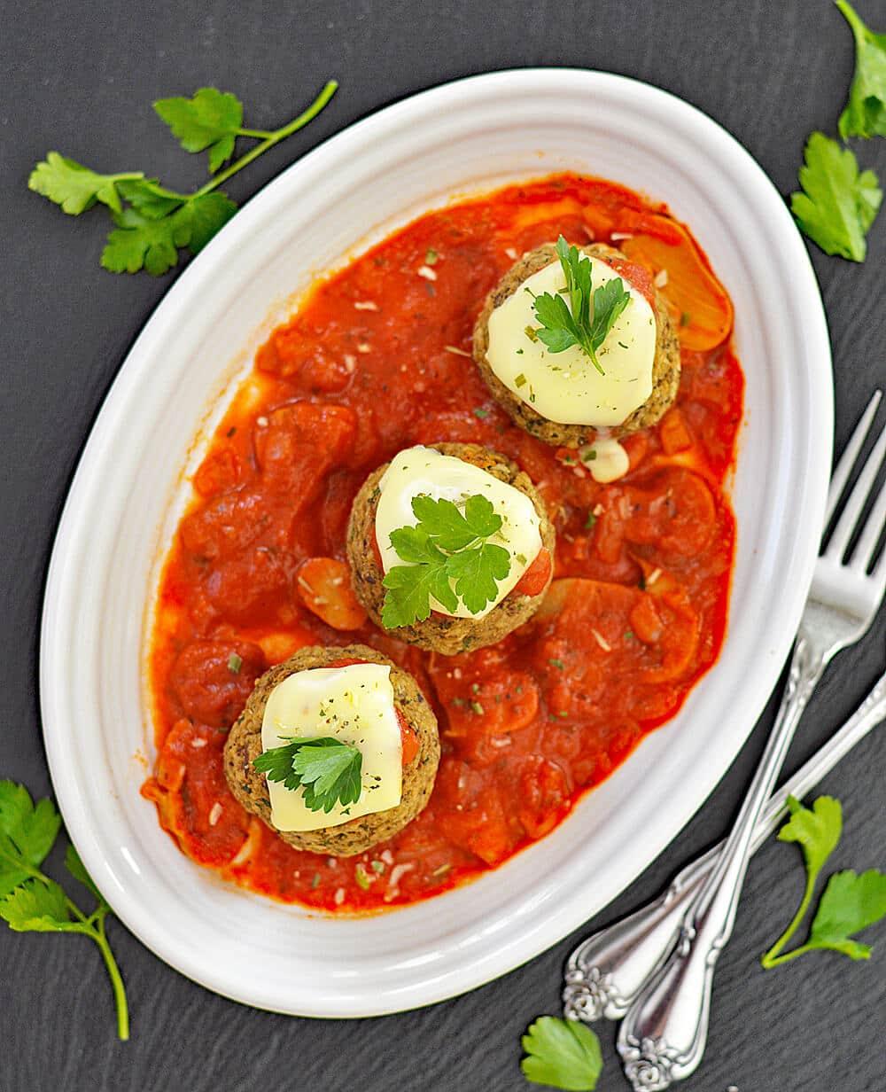 Vegan Eggplant Meatball Marinara