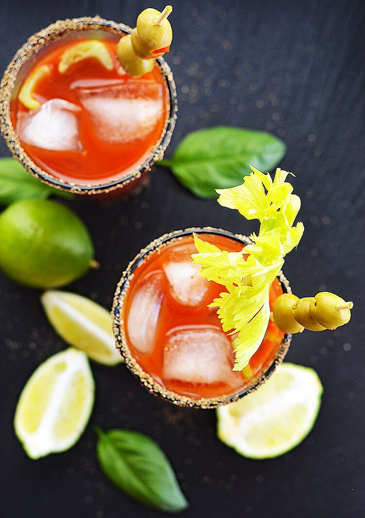 Vegan Bloody Mary + Virgin Mary