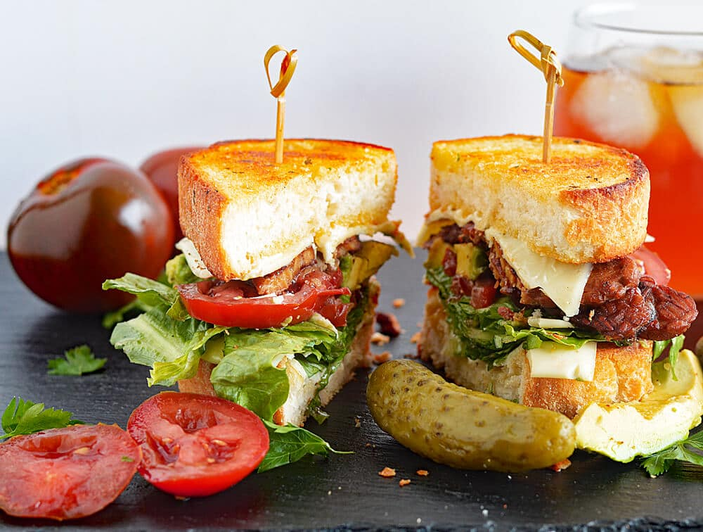 Vegan BLTA Texas Toast Grilled Cheese with NatureSweet Eclipses!