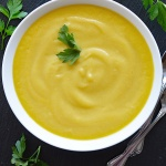 Vegan Yellow Squash Soup OVERHEAD
