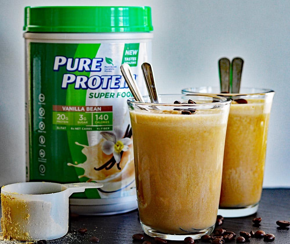 Vegan Coffee Smoothies with PURE PROTEIN