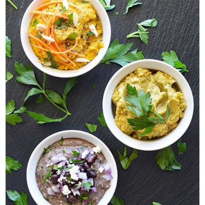 Vegan Hummus Three Ways