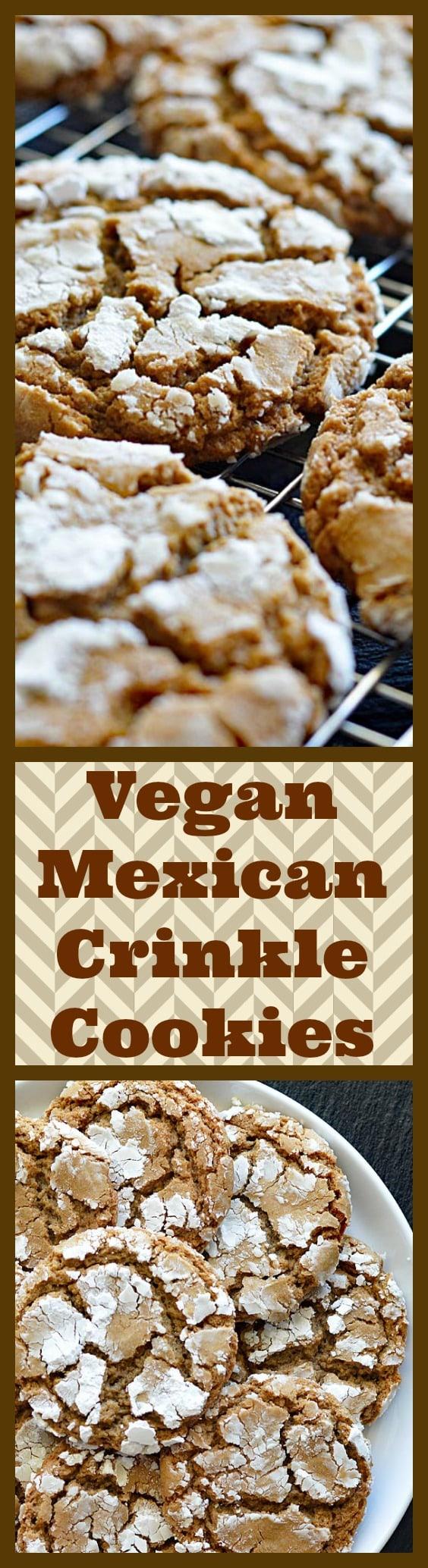 Mexican Crinkle Cookies LONG PINTEREST IMAGE