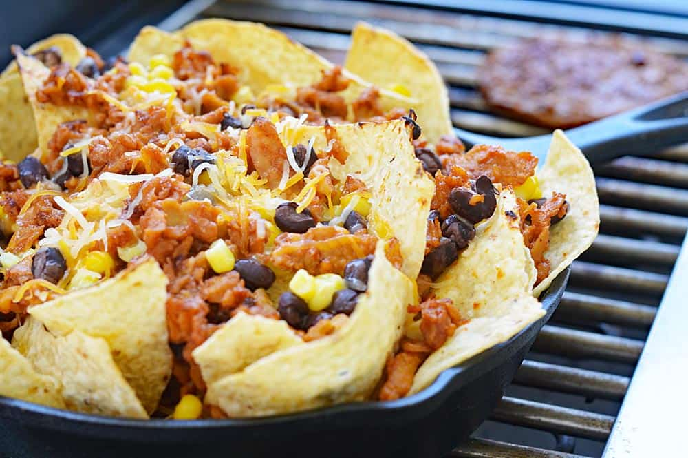 Restaurant Style Loaded Vegan BBQ Pulled Pork Nachos