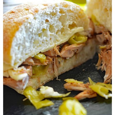 Peperoncini Jackfruit Sandwiches with Mushroom Au Jus