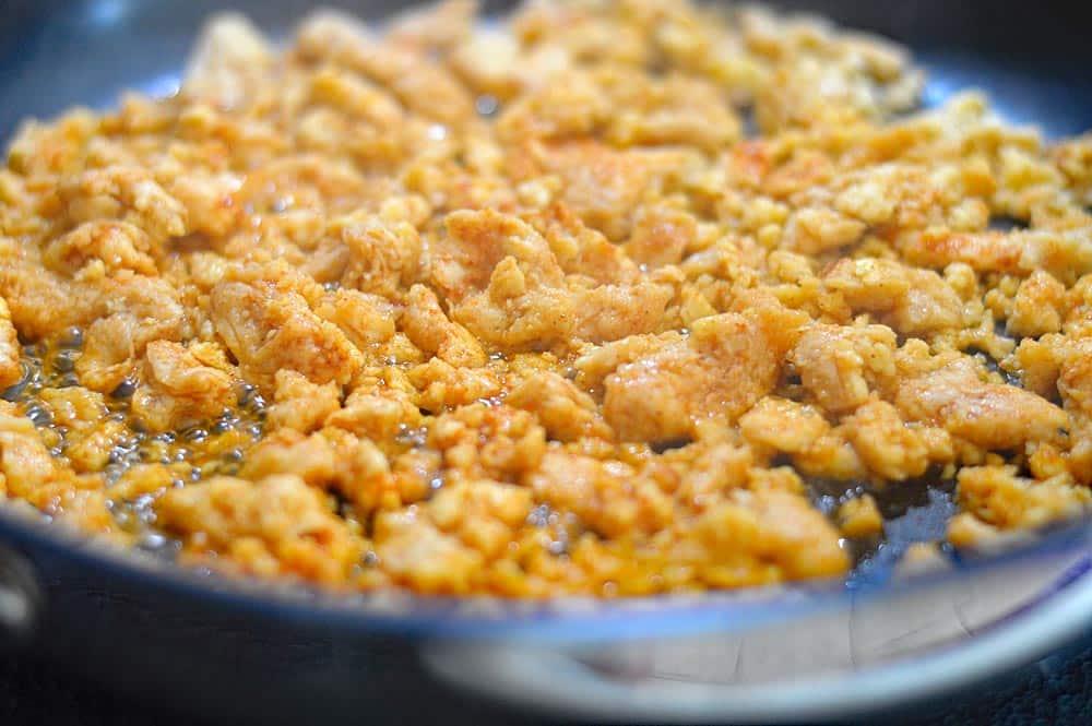 Vegan Chicken Enchiladas Suiza Style Taco Nachos