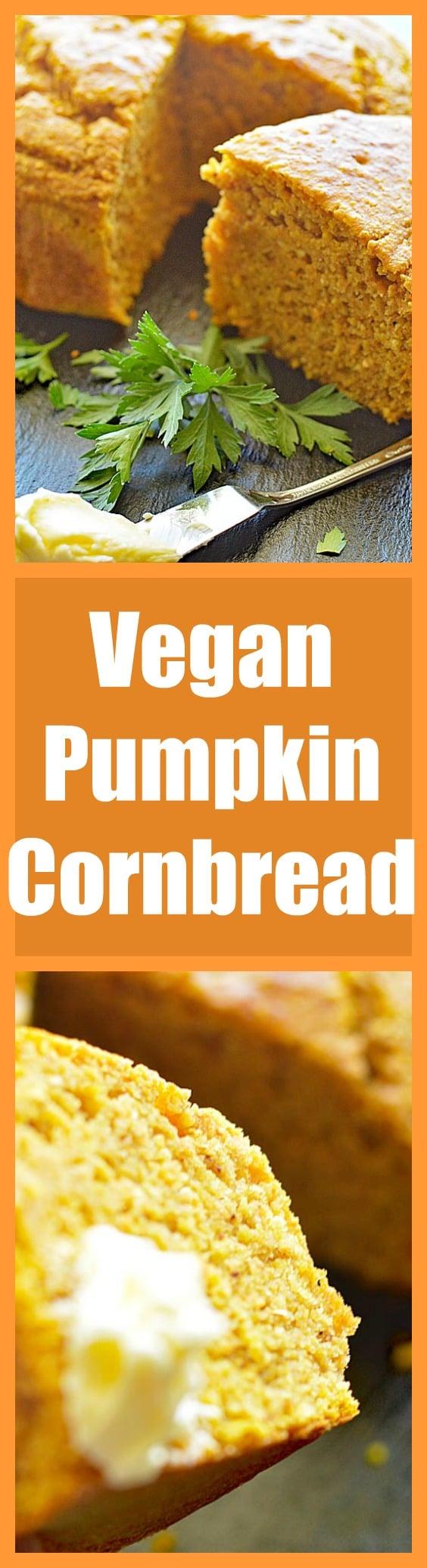Easy Vegan Pumpkin Cornbread