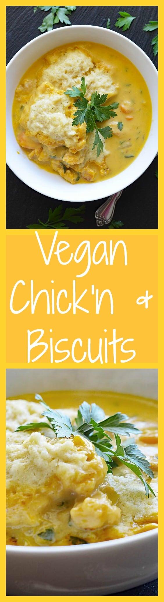 Vegan Chicken and Biscuits
