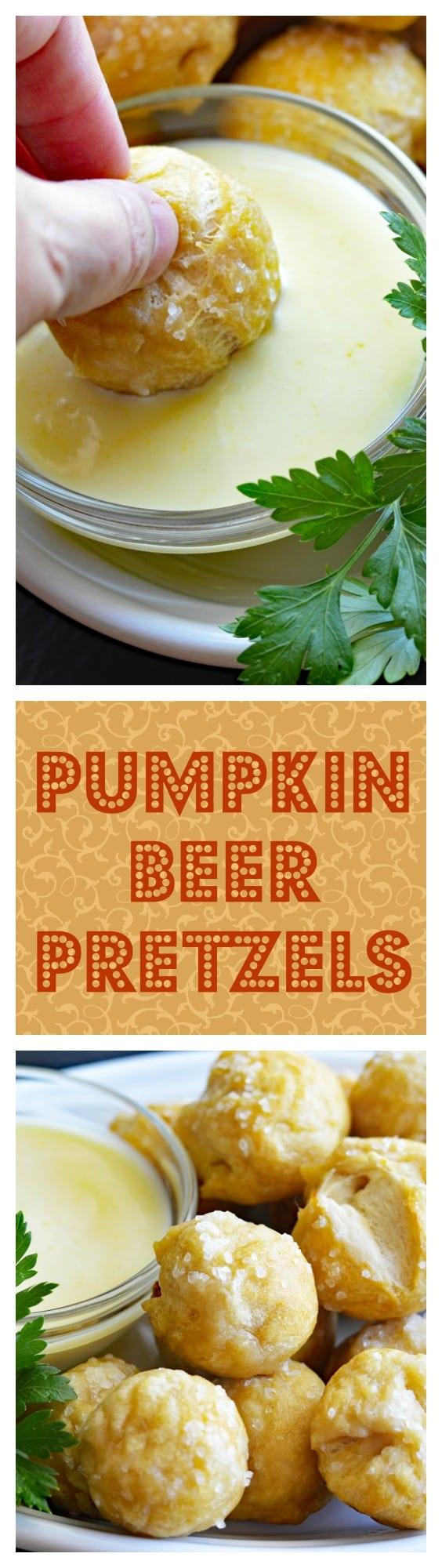 Vegan Pumpkin Beer Pretzels