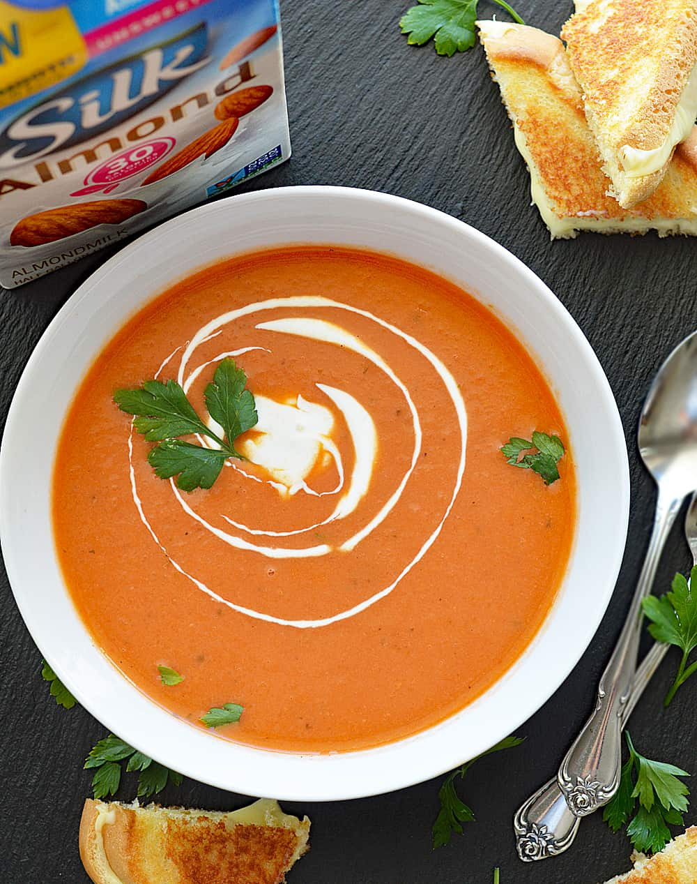 Homemade Vegan Cream of Tomato Soup