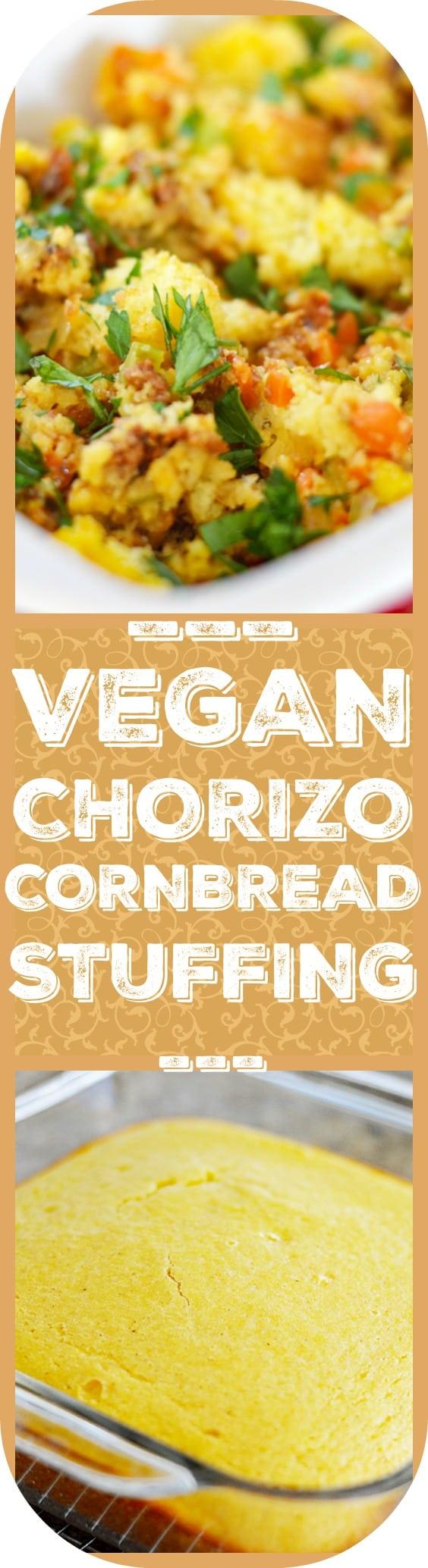 Vegan Chorizo Cornbread Stuffing