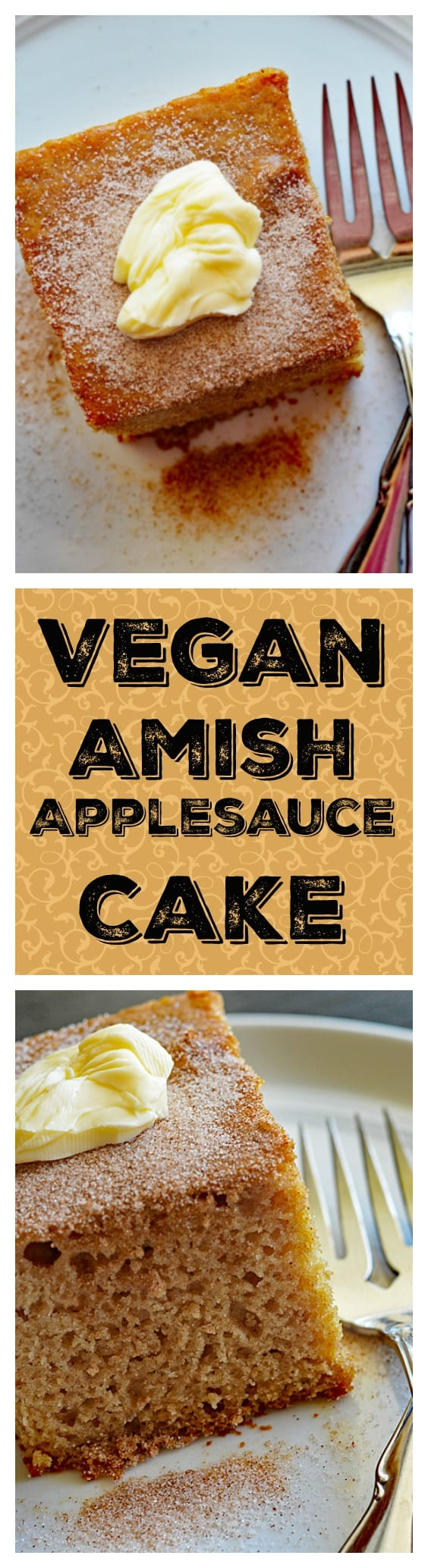 Vegan Amish Applesauce Snackin' Cake