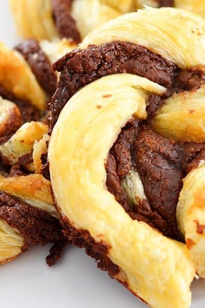 4 Ingredient Nutella Puff Pastry Twists