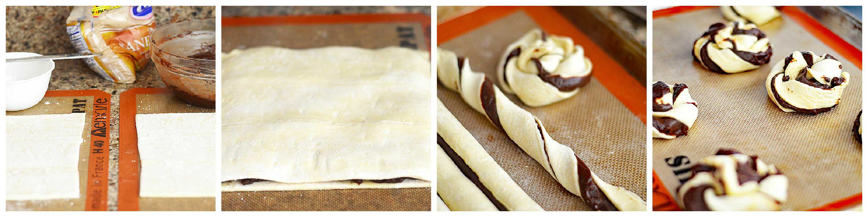 4 Ingredient Nutella Puff Pastry Twists