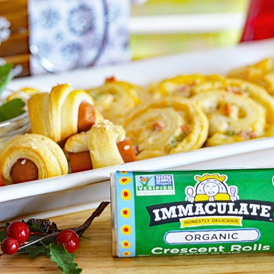 Immaculate Holiday Crescent Roll Appetizers