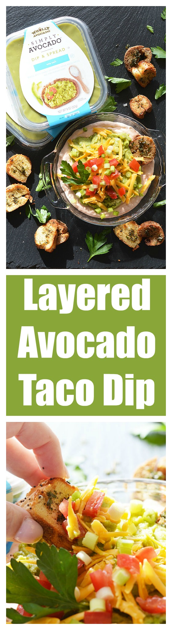 SIMPLY AVOCADO Layered Holiday Taco Dip