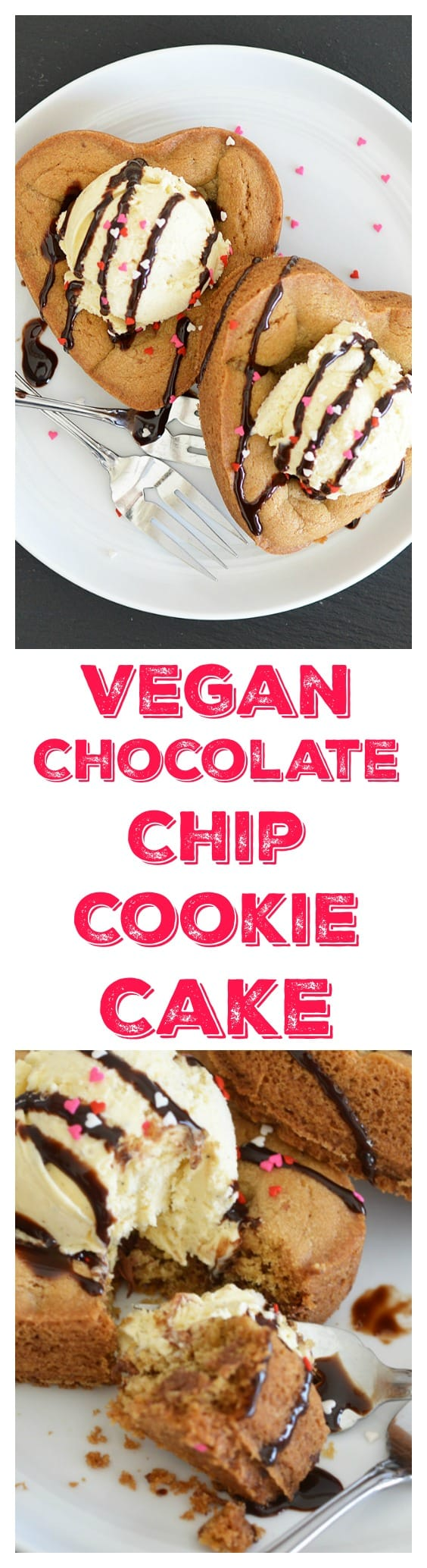 Vegan Chocolate Chip Cookie Cake