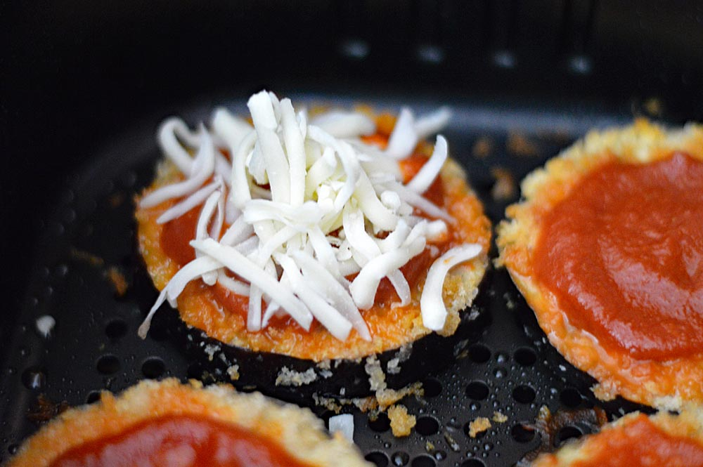 Shredded Cheese for Vegan Air Fryer Eggplant Parmesan Recipe