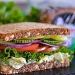 Loaded Veggie Club Sandwich featuring Dave's Killer Bread