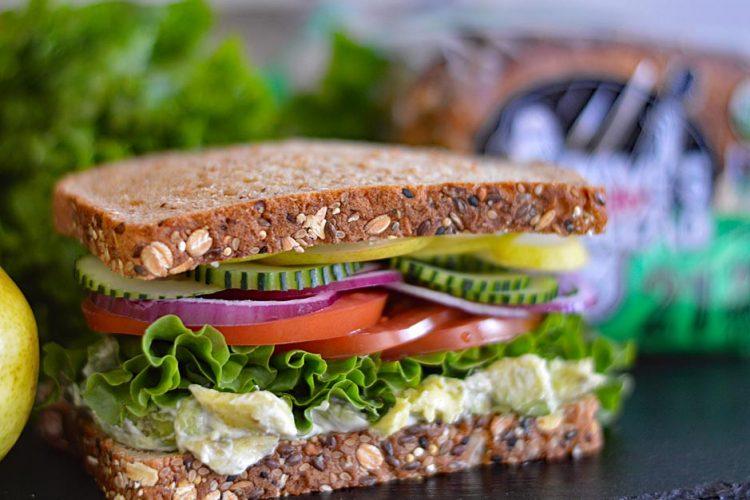 Loaded Veggie Club Sandwich featuring Dave's Killer Bread