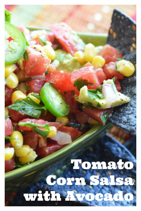 Pinterest Photo Tomato Corn Salsa Recipe with Avocado