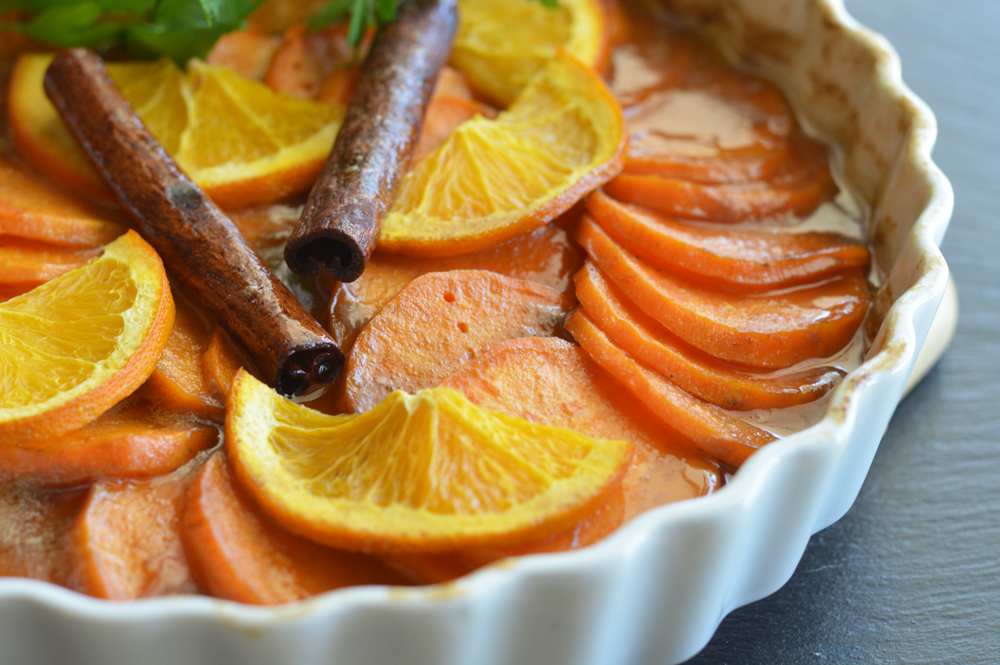 Beauty shot of Classic Candied Sweet Potatoes Recipe