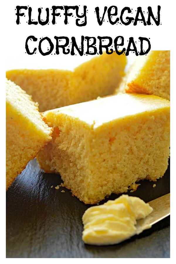 Fluffy Cornbread {Vegan}