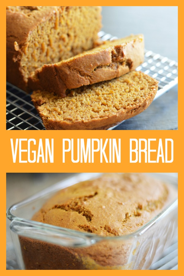 Pinterest picture for Vegan Pumpkin Bread Recipe