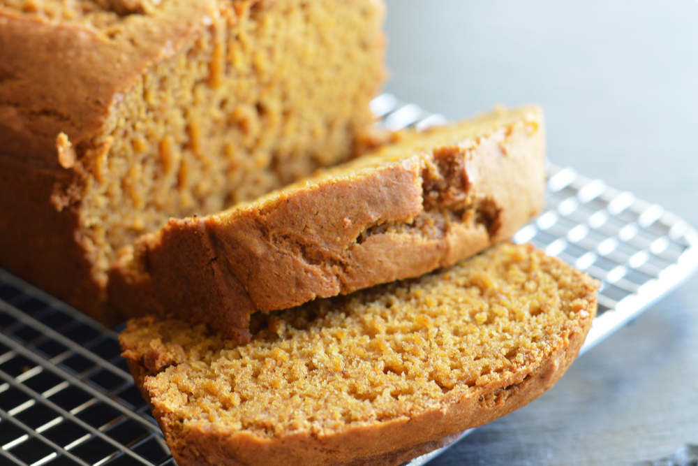 Slices of Vegan Pumpkin Bread Recipe