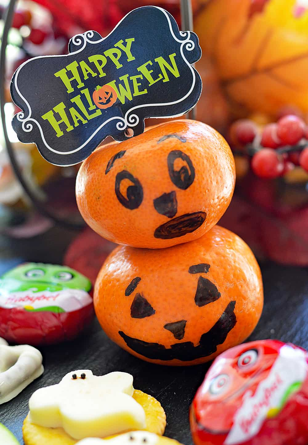 Pumpkin close up for Choose Mini Babybel® at Target for a fun Halloween Treat!