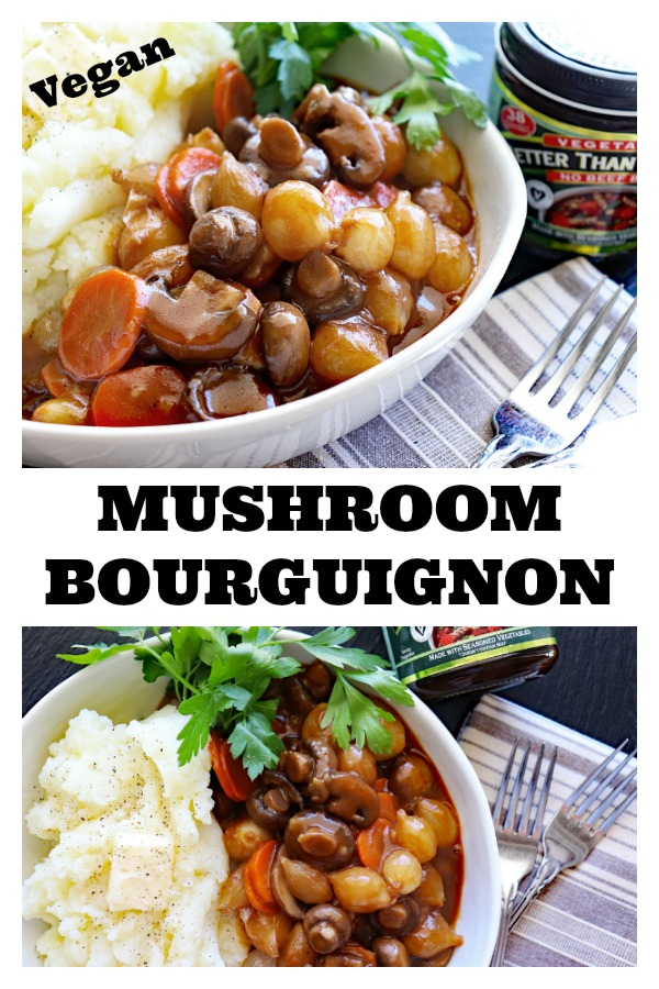 Pinterest Pic for Vegan Mushroom Bourguignon