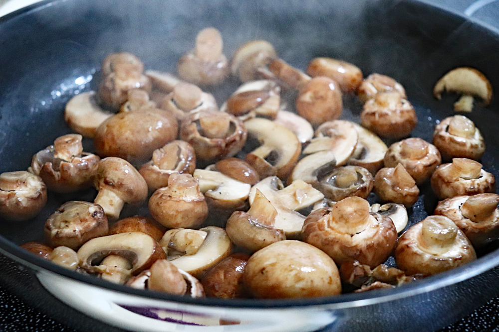Sauteeing Mushrooms