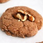 Close up shot of Vegan Chocolate Walnut Wafer Cookies