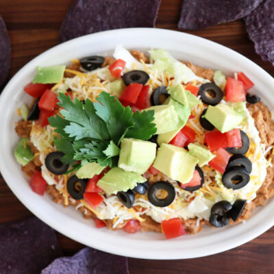 Easy Seven Layer Bean Dip
