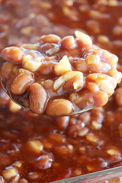 Final Dr. Pepper Baked Beans {Vegetarian}
