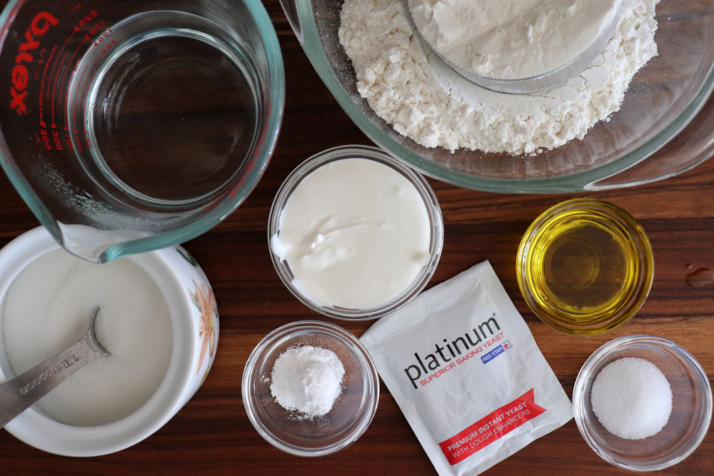 Ingredients for the Naan Bread