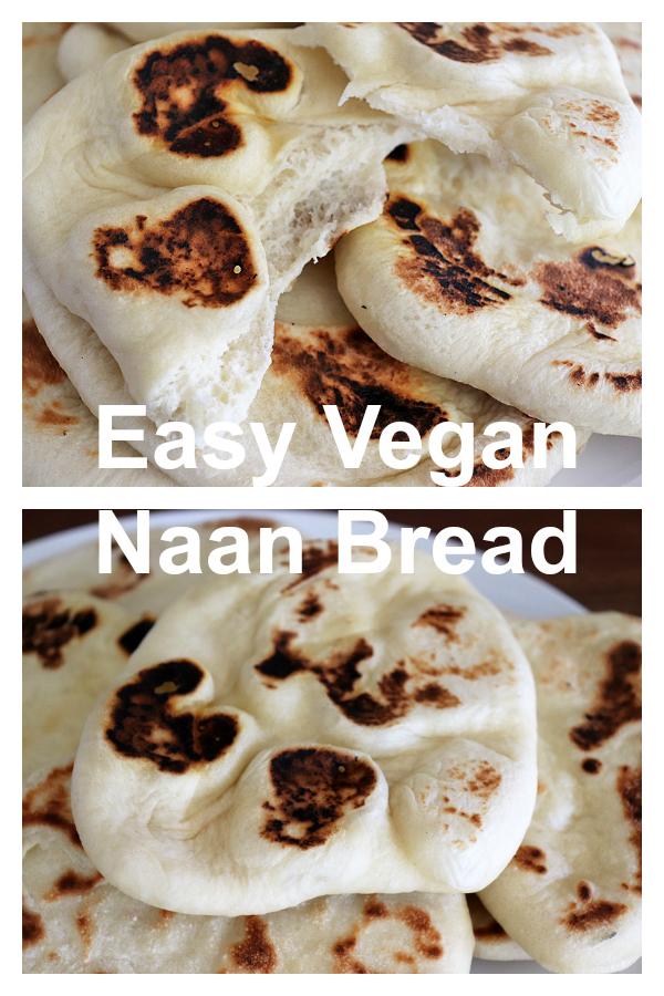 Easy Vegan Naan Bread Pinterest Image