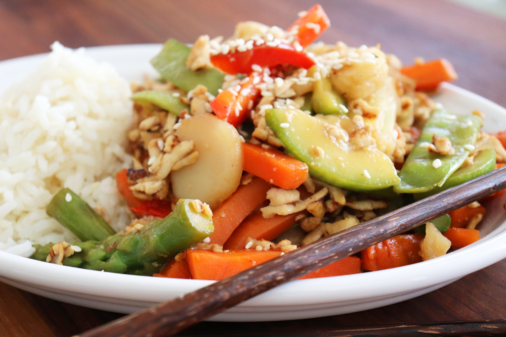 Teriyaki Tofu and Vegetable Stir Fry Hero Image