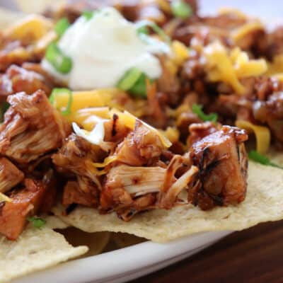 Vegan Barbecue Pulled Jackfruit Nachos