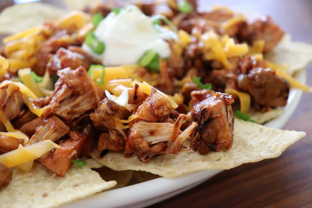 Barbecue Pulled Jackfruit Nachos HERO SHOT