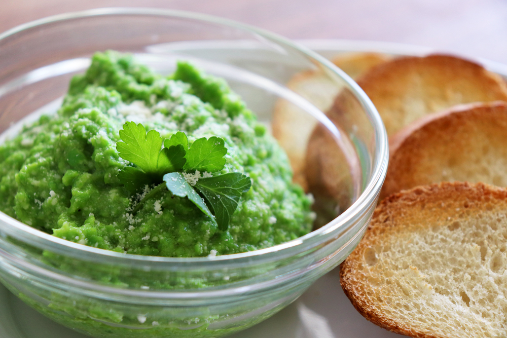 Pea Pesto Crostini Recipe Hero Shot