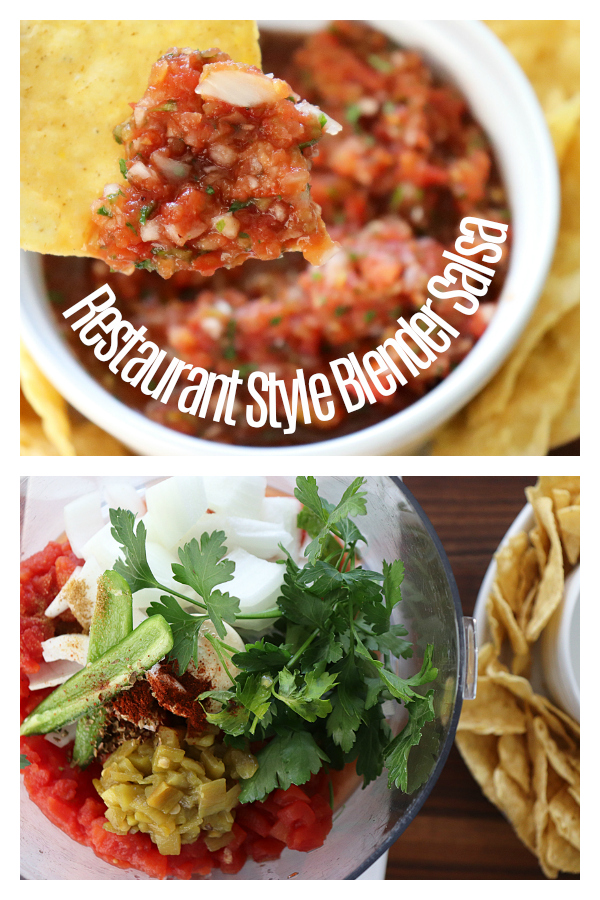 Easy Restaurant Style Blender Salsa Recipe