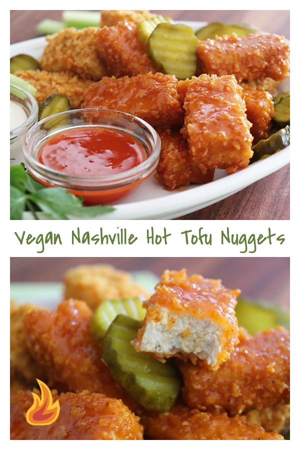 PIN for Vegan Nashville Hot Tofu Nuggets Recipe